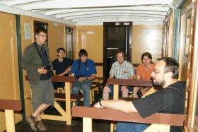 Wizyta miłośników kolei z Gery