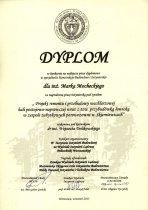 Dyplom dla Marka Mocheckiego