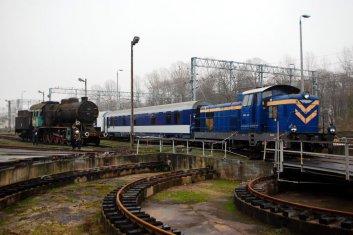 Święto Kolejarza 2013, SM42-223 i wagon konferencyjny 508A