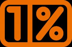 Logo 1 procent, duże