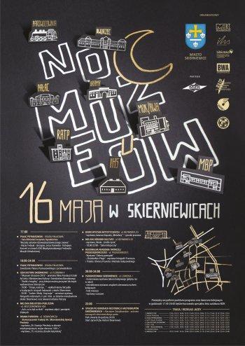 Noc Muzeów w Skierniewicach - plakat, awers