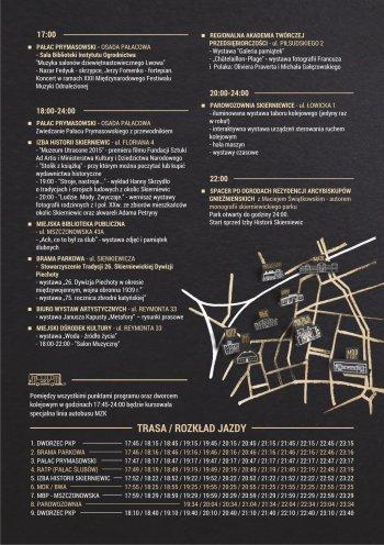 Noc Muzeów w Skierniewicach - plakat, rewers