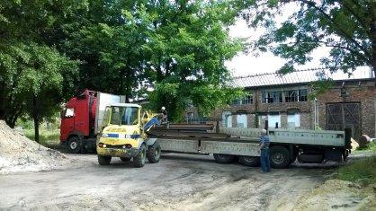 Przybudówka łowicka - transport stali