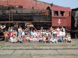 Wizyta przedszkolaków w Parowozowni