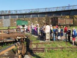 Wycieczka szkolna w Parowozowni