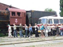 Wizyta maturzystów w Parowozowni