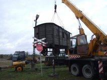 Załadunek wagonu z Tuczna