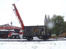 Rozładunek wagonu z Tuczna