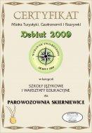 Certyfikat Debiuty 2009