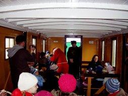 Pociąg mikołajkowy, wnętrze Steinfurta