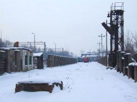 Zima w Parowozowni, zasieki węglowe