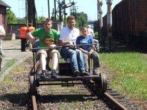 Dzień Dziecka 2010, przejażdżka drezyną