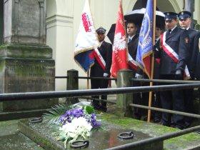 Wizyta przy grobie Stanisława Wysockiego