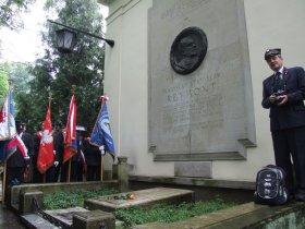 Wizyta przy grobie Stanisława Reymonta