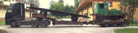 Ls40 i platforma przygotowane do transportu
