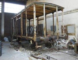 Wagon piwiarka po demontażu ścian