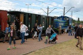 Dni Techniki Kolejowej 2011, zwiedzanie wagonu Steinfurt