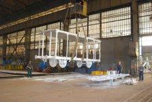Szkielet wagonu piwiarki po piaskowaniu