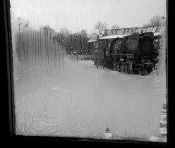 Zima w Parowozowni, widok z budynku dyżurnego