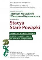 Spotkanie autorskie Stacya Stare Powązki, plakat
